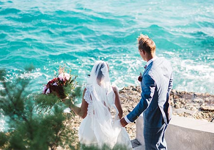 There is a second suggested ceremony site which is on a secluded and intimate beach tucked away on the other side of the island.